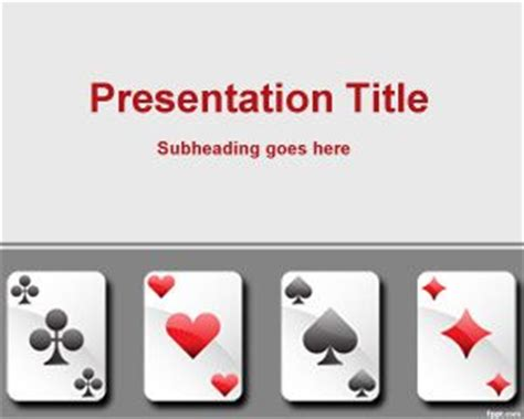 s card powerpoint template free cards template for powerpoint