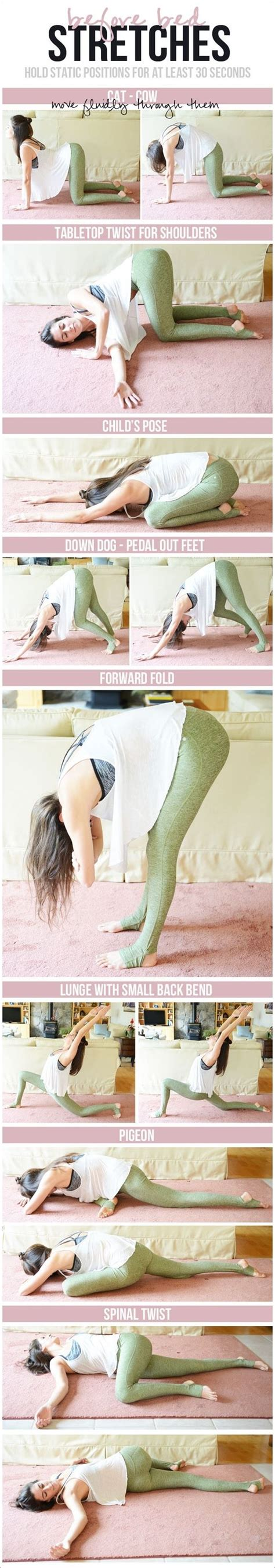 before bed stretches 25 best ideas about stretches before workout on pinterest