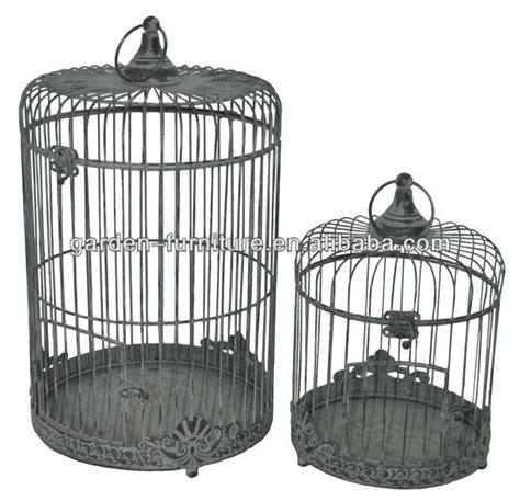 large black decorative bird cages handicraft shabby chic hanging painted white bird cage