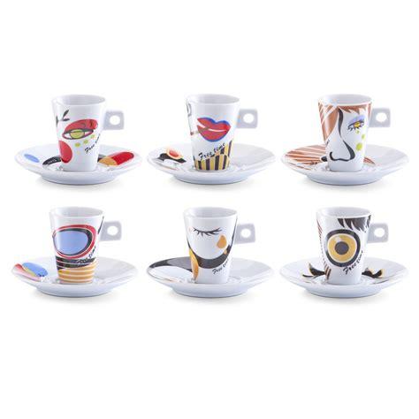 Cafe Set espresso set 12 tlg faces quot porzellan quot real