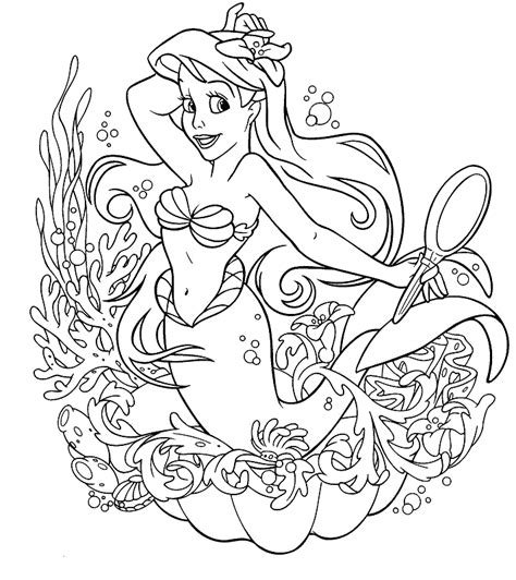 The Little Mermaid Coloring Part 8 Ariel Colouring Pages