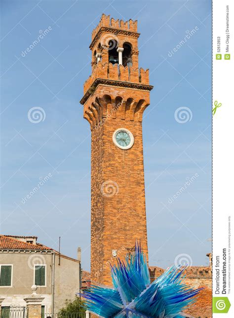 santo stefano mirano clock tower and glass sculture in co santo stefano in