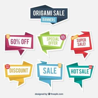 Origami Sale - origami vectors photos and psd files free
