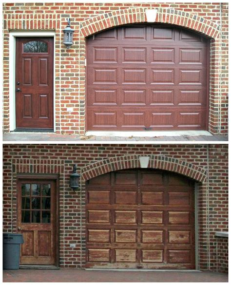 Clopay And Provia Entry Doors Clopay Garage Door Model 9200 Rp In Classic Cherry Paired With The Garage Door Is A Provia