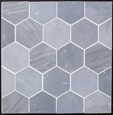 beltile grey bardiglio marble hexagon 4 quot honed 4 quot beltile tile and stone including hexagon
