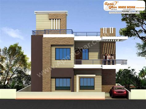 Narrow Lot 2 Story House Plans by Duplex House Design Apnaghar House Design