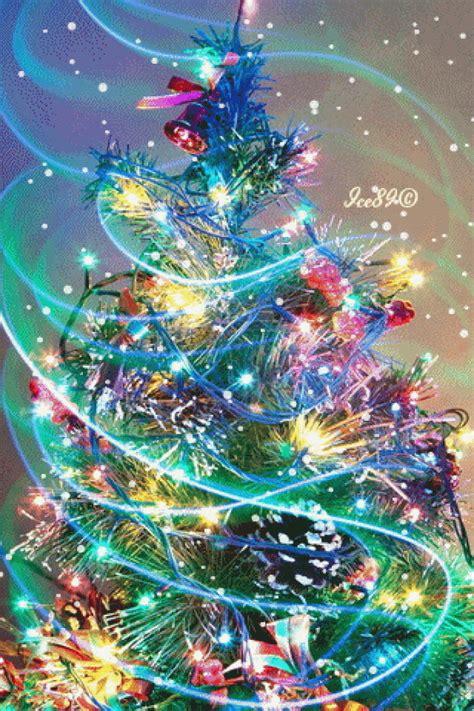 merry christmas tree animated gif speakgif