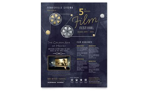 Festival Brochure Template by Festival Flyer Template Design