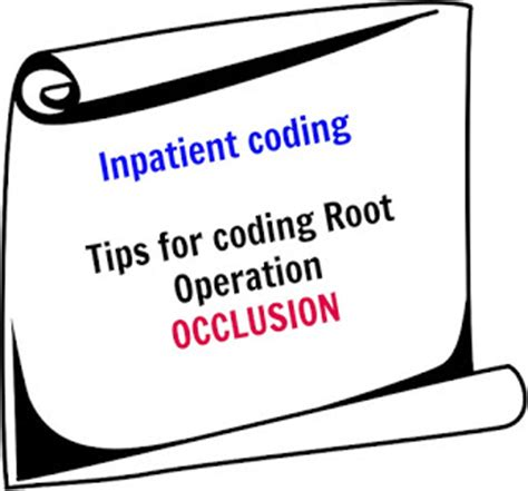 Cpt Code For Repeat C Section by Amazing Coding Tips For Root Operation Occlusion
