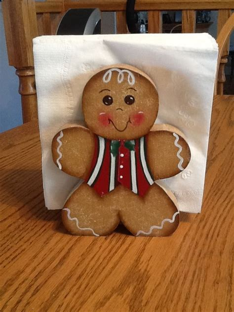 gingerbread woodwork napkin holders this and on