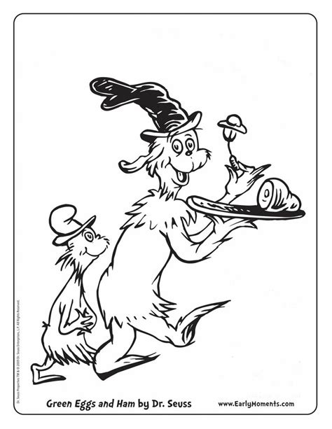 Green Eggs And Ham Coloring Printable Arts Crafts Green Eggs And Ham Coloring Page