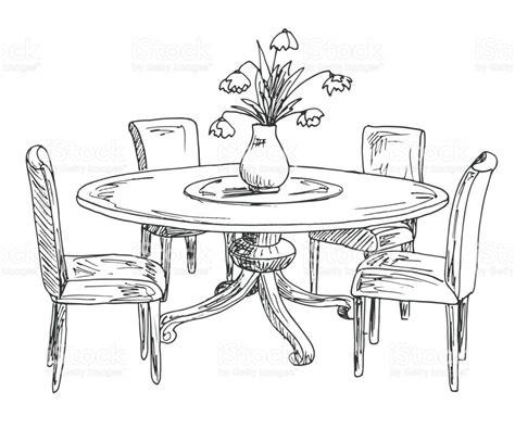 sketch of dining room sketch of dining room dining room sketch stock images royalty free images vectors alluring