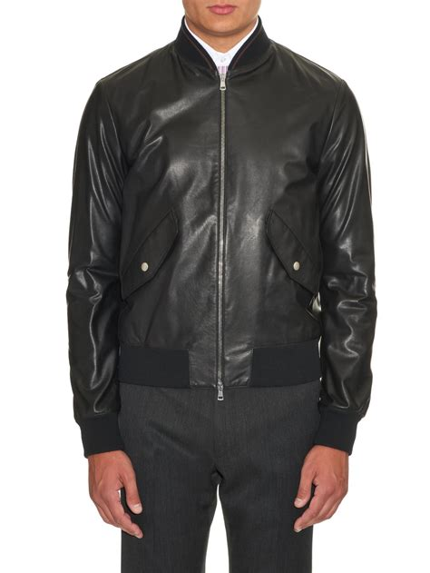 Jaket Gucci 2 gucci lightweight leather jacket in black for lyst