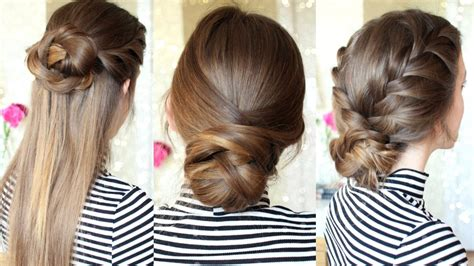 easy hairstyles not braids 3 easy braided hairstyles braided updo