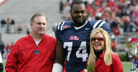 hairs michael oher players footballs american former ole miss ol michael oher the blind side damaged