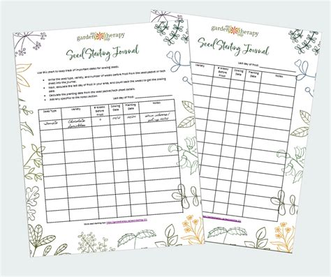 printable grow journal grow your own spring salad garden garden therapy