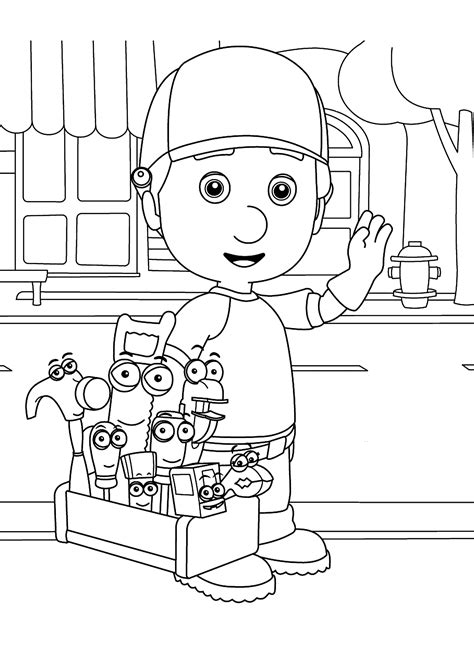 handy manny coloring pages handy manny coloring pages for printable free