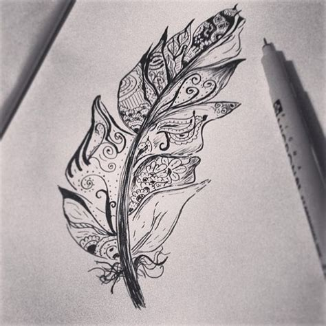 draw tattoo yourself pen 10 best images about drawings on pinterest feathers