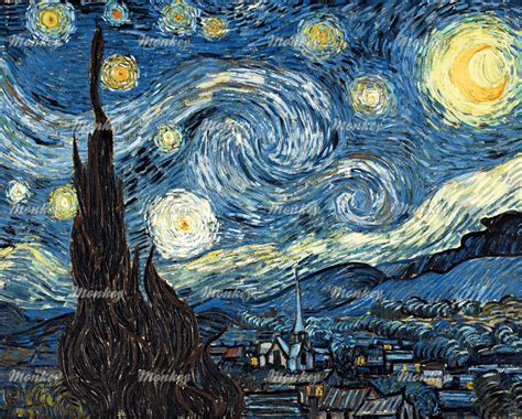 drakorindo gogh the starry night vincent van gogh the starry night 1889 fabric woven