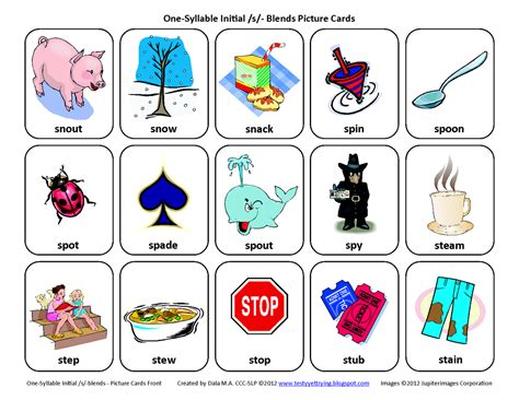 S Articulation Worksheets by Testy Yet Trying S Blends Sl Sm Sn Sp St