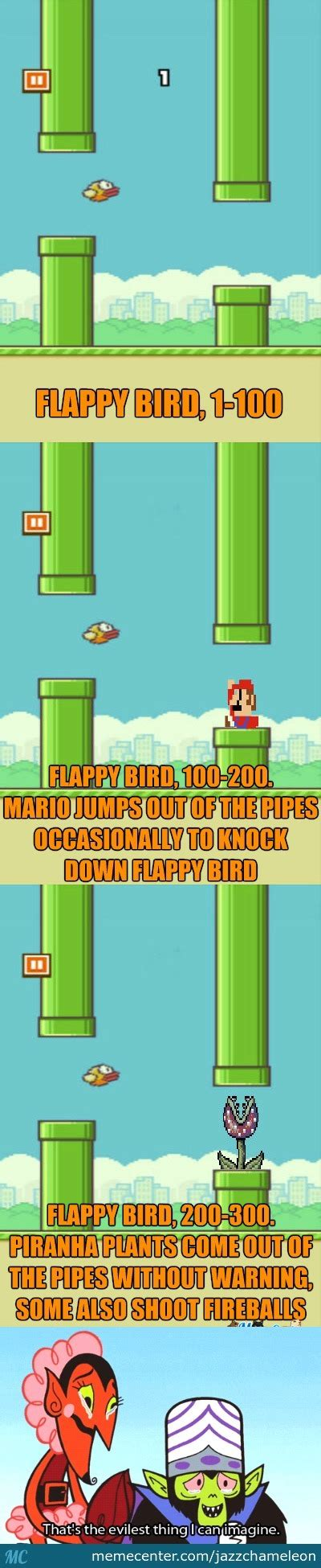 Flappy Bird Meme - i just thought that flappy bird wasn t hard enough by jazzchameleon meme center