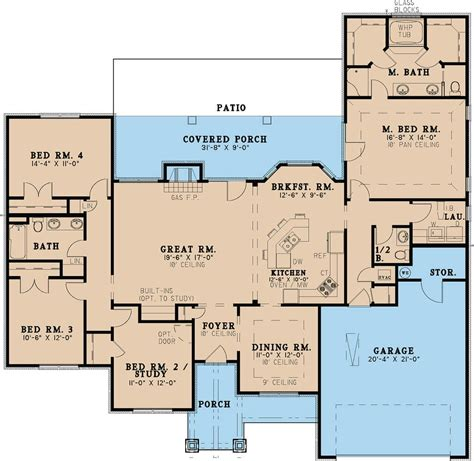 ranch style house plan 4 beds 2 00 baths 1500 sq ft plan 36 372 4 bedroom 2 bath ranch floor plans