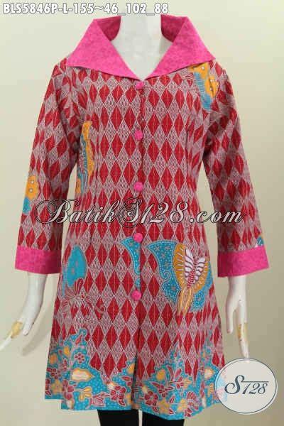 desain batik embos baju batik printing kereh lebar pakaian batik bahan