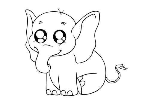 Baby Elephant Coloring Pages Animal Baby Elephant Coloring Pages