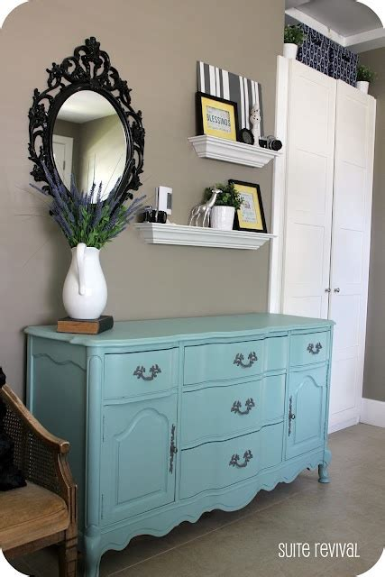 how to decorate above the dresser color is aqua it