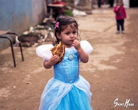 Syari And Kid once upon a war syrian refugee dress up as disney