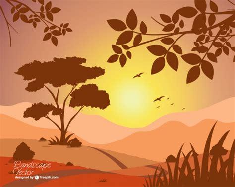 imagenes vectoriales free autumn sunset vector free download