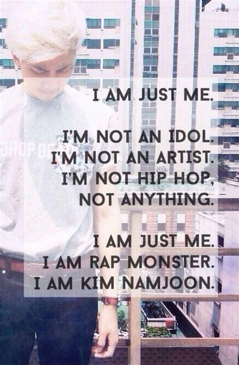 bts quotes in korean rapmon namjoon go army go bts pinterest