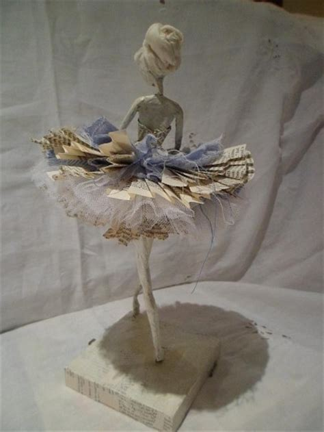 doll wire doll wire and paper sculpture snowflake assemblage