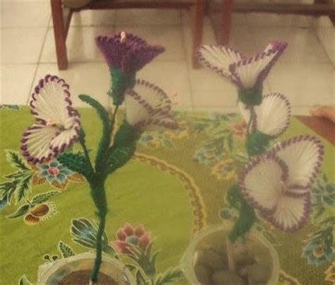 Kawat Batang Tangkai Bunga membuat kerajinan bunga dengan benang wol seni rupa
