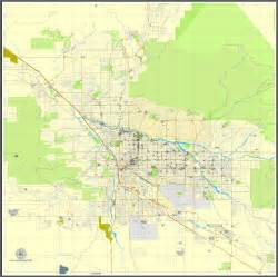 map of tuscon arizona tucson arizona us exact map printable vector