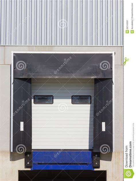 loading dock cargo doors stock image image 26744391