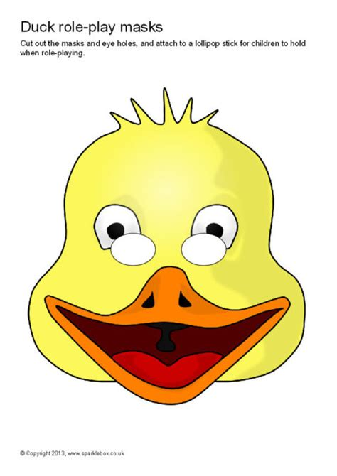 free printable goose mask template duck role play masks sb9172 sparklebox