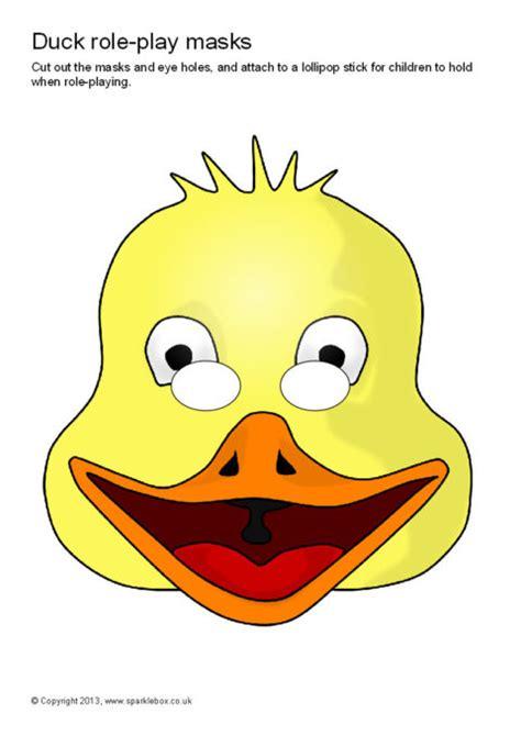 printable goose mask template duck role play masks sb9172 sparklebox