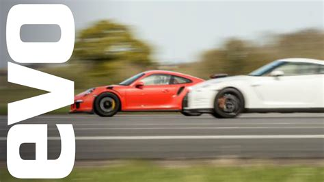 porsche vs nissan gt r vs porsche 911 gt3 rs which is fastest
