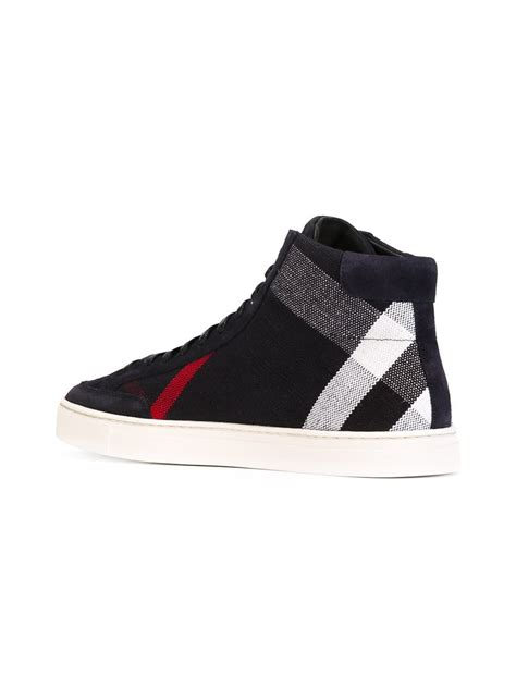 burberry sneakers burberry hi top sneakers in black for lyst
