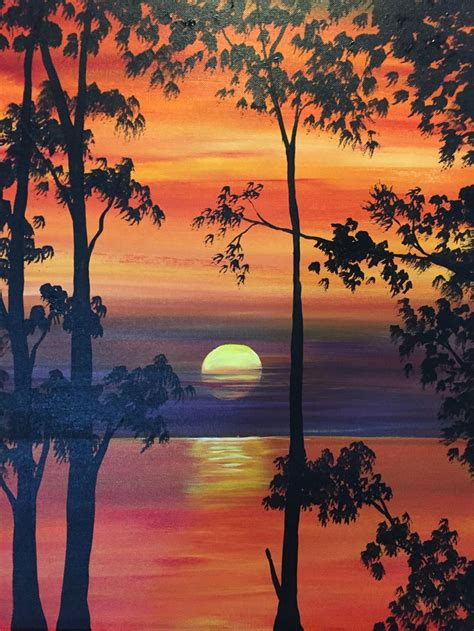 paint nite woodland the 25 best silhouette painting ideas on