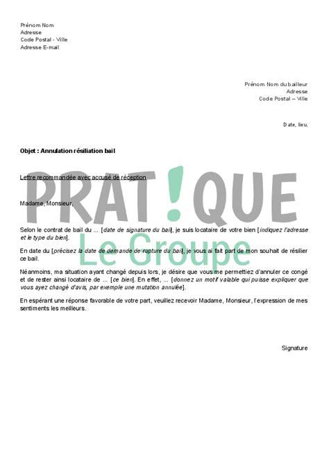 Résiliation De Bail Par Propriétaire Lettre Type Lettre Resiliation Bail Hlm Document