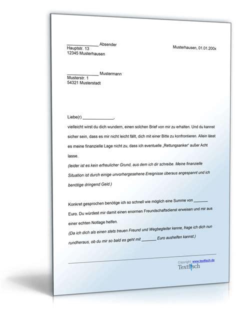 Brief Anfrage Finanzielle Unterstützung Bitte Um Finanzielle Unterst 252 Tzung Vorlage Zum