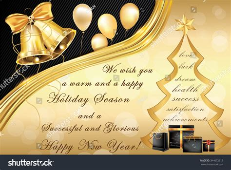elegant corporate christmas  year greeting stock vector  shutterstock