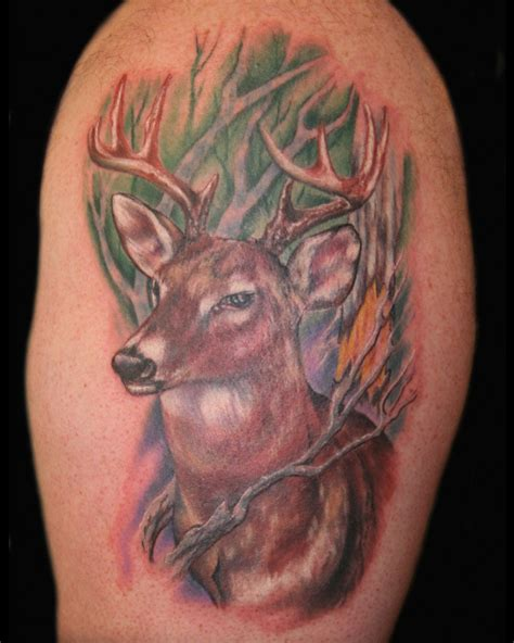 deer head tattoos deer images designs