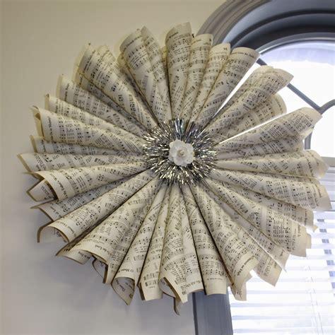 A Paper Wreath - flannel jammies farm a paper cone wreath tutorial for