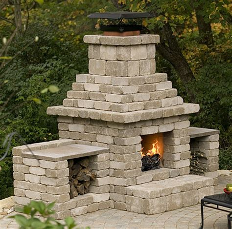 Concrete Block Fireplace concrete block outdoor fireplace plans
