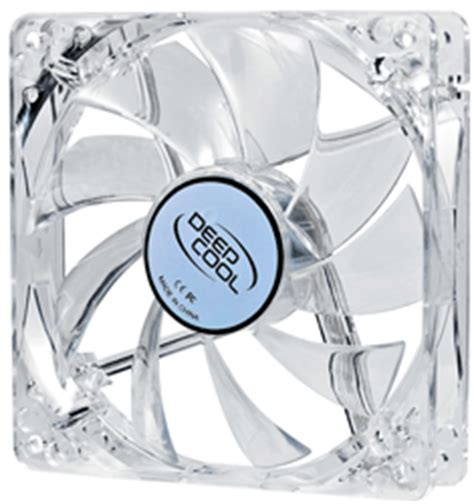 Deepcool Xfan 12cm Blue Color deepcool xfan 120 l b white frame blue led 120mm fan