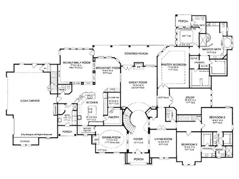 5 bedroom 1 story house plans eplans country house plan world of luxury 6699 square and 5 bedrooms from eplans