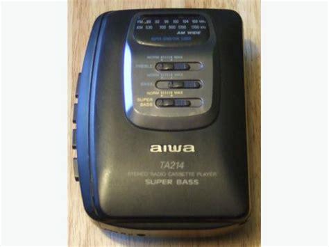 aiwa cassette player vintage aiwa hs ta123 radio cassette player am fm